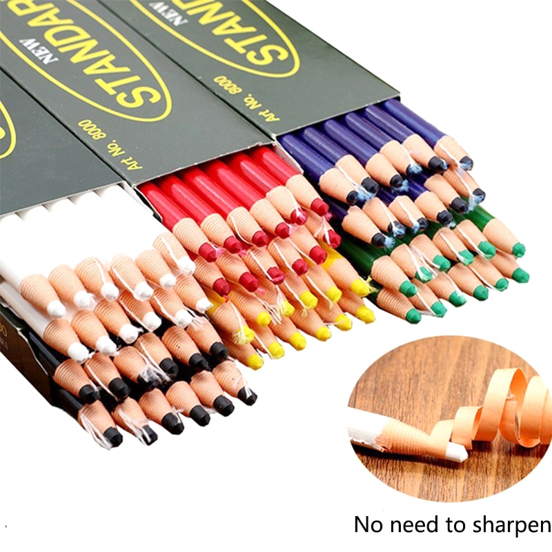 Accessoires de couture sans coupe pour tailleur   Craie de tailleur, crayon de crayon, crayons de marqueur, outils de couture en tissu, craie de couture 1 pièce