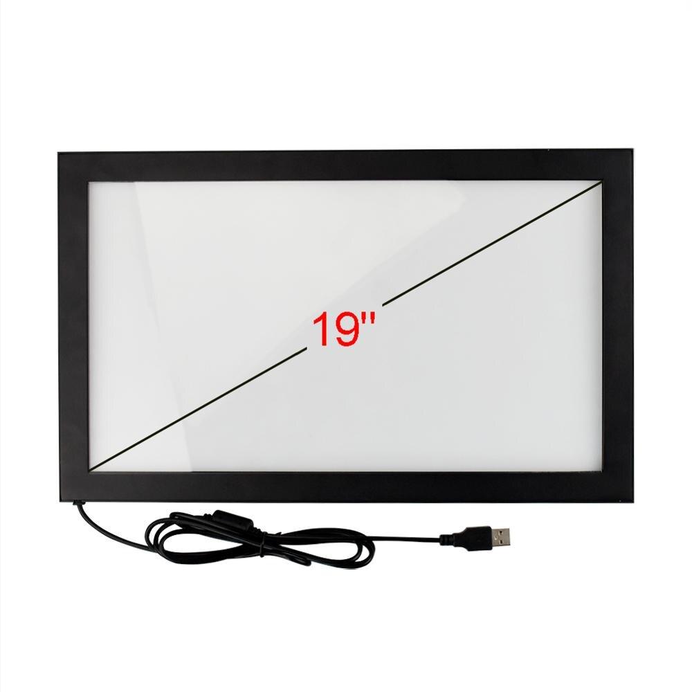 لوحة شاشة تعمل باللمس متعددة IR ، 19 بوصة ، 16:10 ، 454 × 300 مللي متر ، 1 ، 2 ، 4 ، 6 ، 10 نقاط ، واجهة USB
