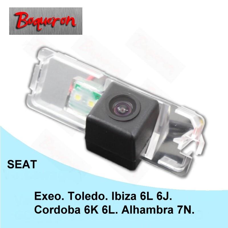 Para Seat Cordoba, 6L 6K, Alhambra Ibiza 6L 6J, Exeo Toledo, vista trasera de coche, cámara HD CCD de visión nocturna, cámara de estacionamiento de reserva, marcha atrás