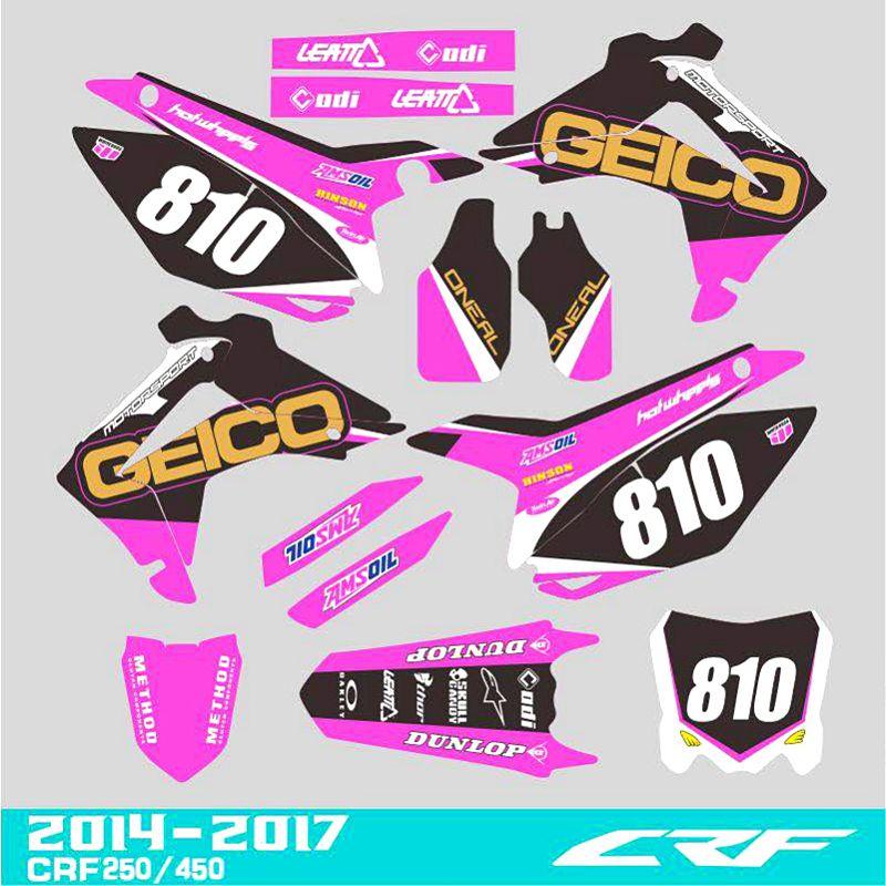 Custom CRF250 motocross digital sticker sticker 2014-2016 & CRF450R CRF450 13-16 CRF 250 250R 450 450R