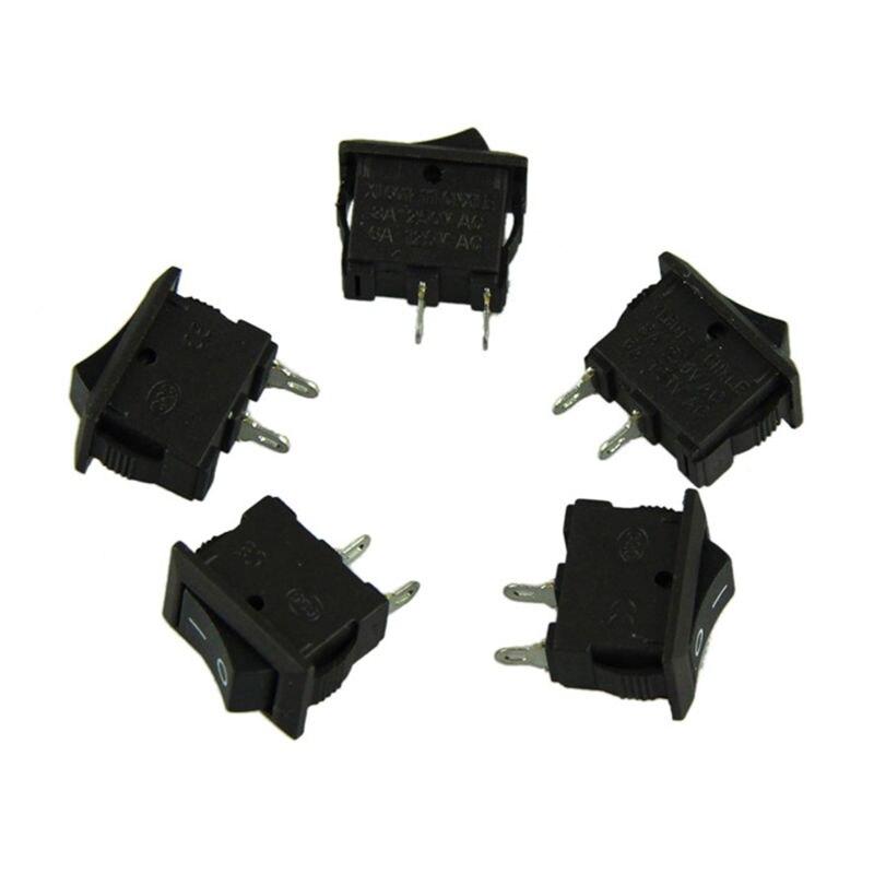 10 piezas 2 Pin 12V coche barco redondo punto luz encendido/apagado basculante interruptor herramienta conjunto d #