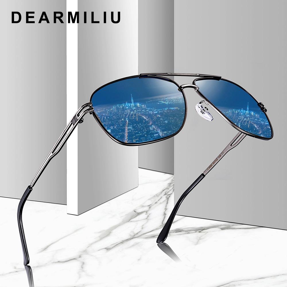DEARMILIU Brand Classic Alloy Frame Driver Men Sunglasses Polarized Coating Mirror Frame Eyewear avi