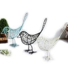Ameublement de Table de bureau à la mode   Ornements de décoration de cadeau, livraison directe, oiseau en fil de fer et métal, modèle creux, artisanat artificiel