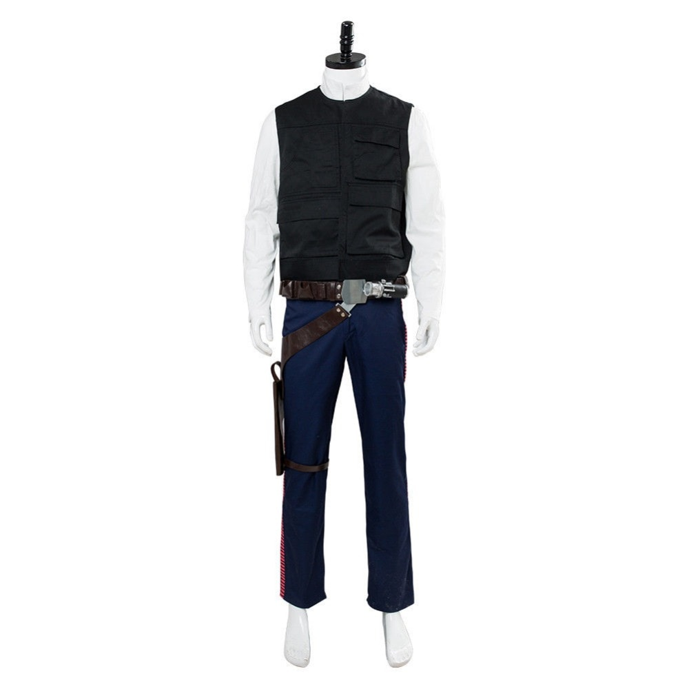 Estrella Cosplay Wars Han Solo Cosplay traje uniforme cinturón para traje funda Set Cosplay disfraces