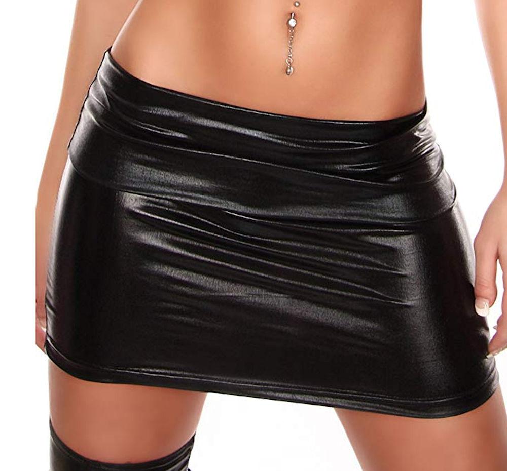 Faux Leather Short Pencil Bodycon Mini Skirt Sexy Women Fashion Plus Size Pencil Skirt Lady Skinny High Waist Skirts Black