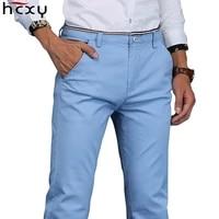 hcxy 2021 warm men pants cotton straight plus velvet trousers for men autumn and winter thick mens casual pants plus size 28 38