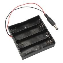 Batterie externe 18650 support de batterie en plastique batterie porte-boîte de rangement étui pour 4x18650 avec prise dalimentation DC5.5 * 2.1mm