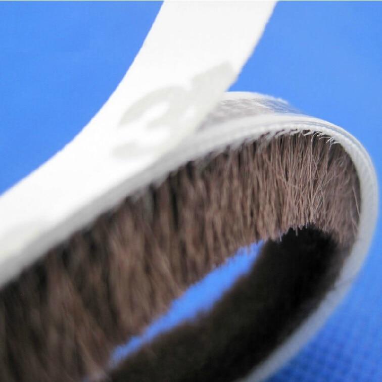 9x15mm Ventana de aleación de aluminio a prueba de viento termal 3 m vibratorio cepillo sellado tiras adhesivas