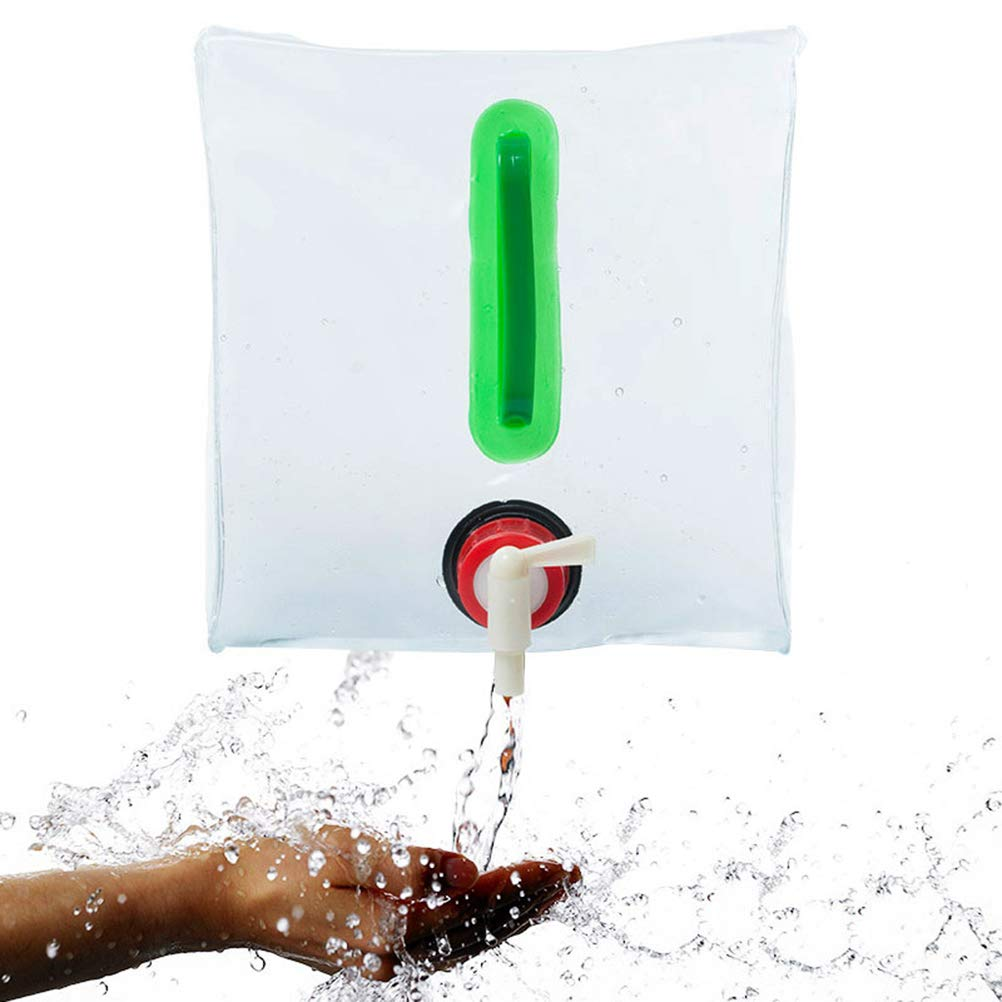 Nieoqar 20L Durable PVC grande plegable bolsa para agua y bebidas botella de transporte de agua plegable para Picnic de campo al aire libre