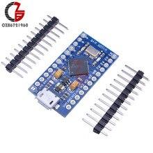 Micro USB ATmega32U4 Pro Micro 3.3V 8MHz Module de carte pour Arduino/Leonardo ATMega 32U4 contrôleur Pro-Micro remplacer ATmega328