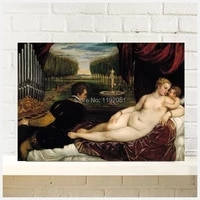 poster canvas painting titian tiziano vecellio venus with an organist and cupid