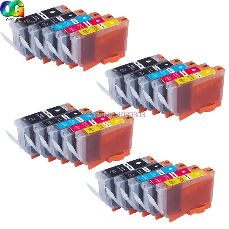 20PK CLI-8 PGI-5 CARTUCHO de TINTA Compatível para CANON Pixma IP3300 IP3500 IP4200 IP5200R IP4300 IP4500 MP970