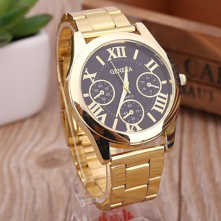 Relogio Feminino 2018 New Fashion 3 Eyes Ladies Clock Gold Geneva Casual Quartz Watch Women Stainles