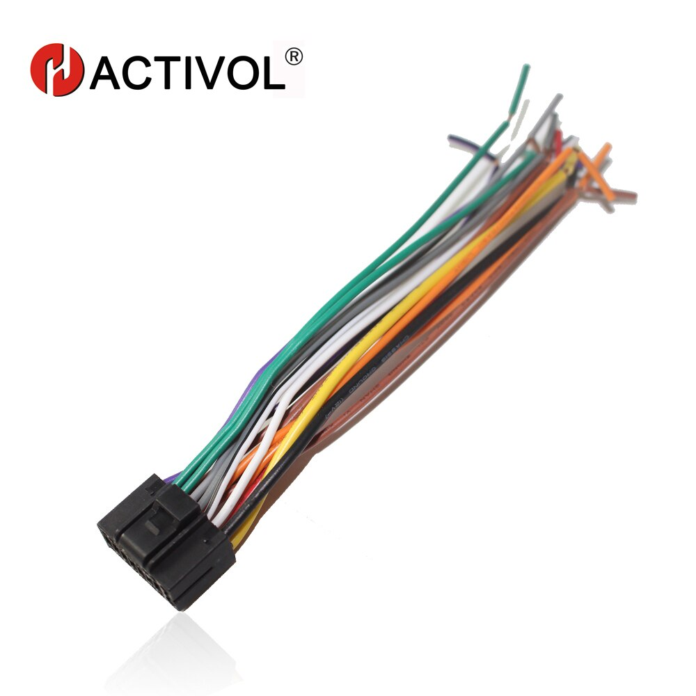 Free shipping Car Radio Stereo ISO Plug Power Adapter Wiring Harness for Chevrolet Lova Chery ISO harness power cable