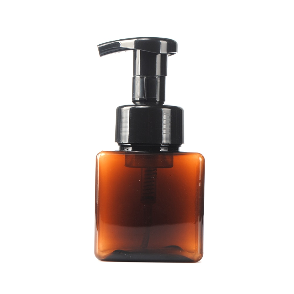 250ml Square Foaming Soap Pump Shampoo Dispenser Lotion Liquid Foam Bottle Container