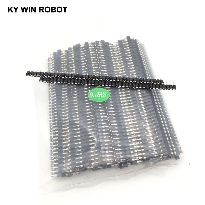 50pcs lot special female header connector pc104 long female header connector 2 54 spacing 1 8 8p pin 11mm 100pcs 1x40 Pin 2.54 Round Female Pin Header connector
