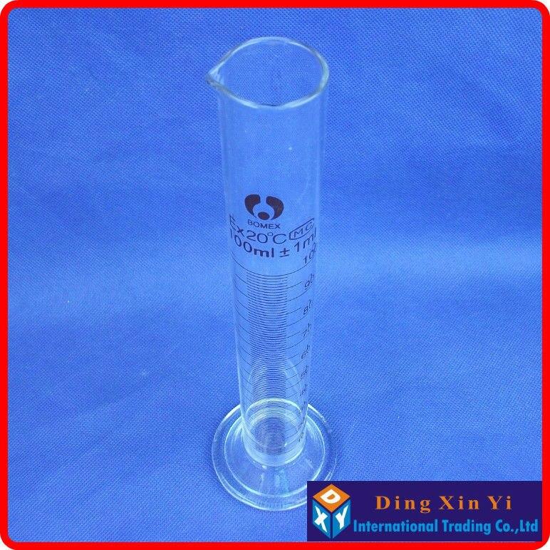 (4 unids/lote) cilindro graduado de vidrio de 100 ml, cilindro de medición graduado de vidrio