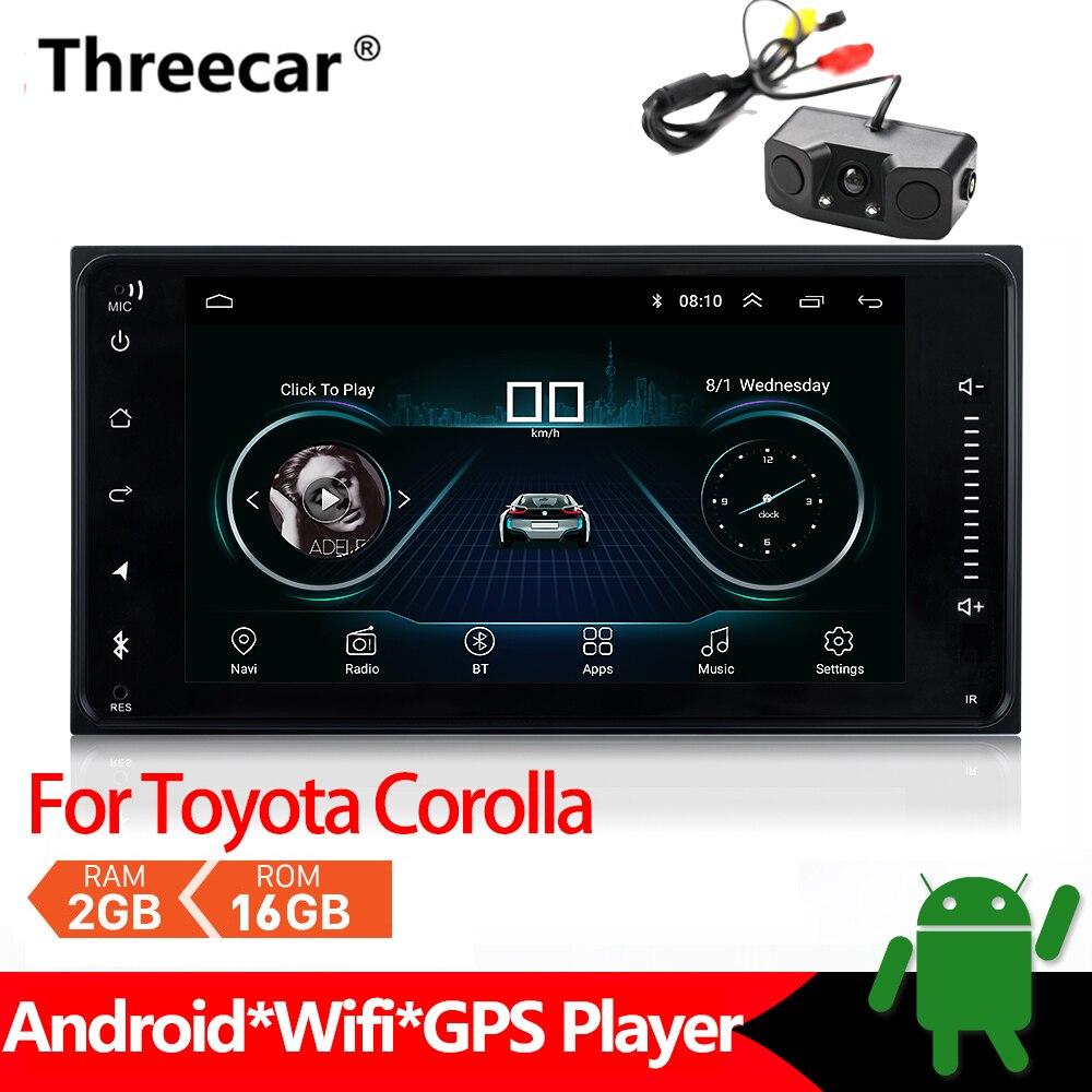 Reproductor Multimedia de Radio para coche Android para Toyota Corolla, navegación GPS estéreo 2din Mirrorlink Android con Bluetooth, coche MP5 2 + 16GB