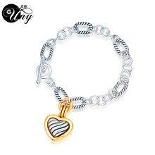 UNY العتيقة كابل سوار على شكل قلب المرأة مجوهرات سوار عيد الميلاد Valentine'sDay هدية أساور خمر الأزياء العصرية أساور