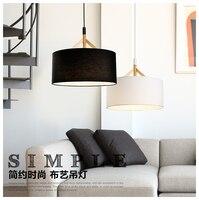 Simple Wood Cloth Art Droplight Modern LED Pendant Light Fixtures For Living Dining Room Handmade Hanging Lamp Indoor Lighting