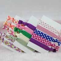 16mm solid color headress print hairband elastic hair tie ponytail holder hair accessory