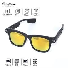 Reotgtu 2018 HD 720P Fashion Men And Women Models Camera Sunglasses Outdoor Sports DV Bluetooth Smart Glasses With Headset