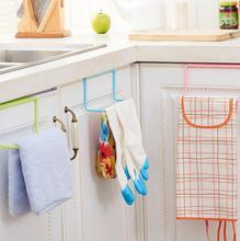 Porte-serviettes de porte suspendue sans clous   Ensemble de 2 pièces, Gadgets de cuisine créatifs, porte arrière, crochets sans clous, articles divers