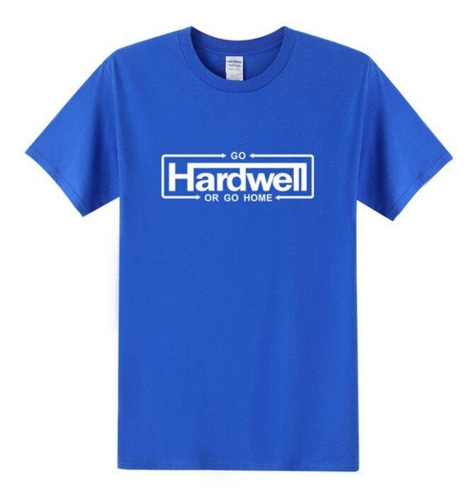 GO HARDWELL OR GO HOME Футболка мужская новая летняя хлопковая футболка с коротким рукавом и круглым вырезом Мужская футболка в стиле хип-хоп Бесплатная доставка