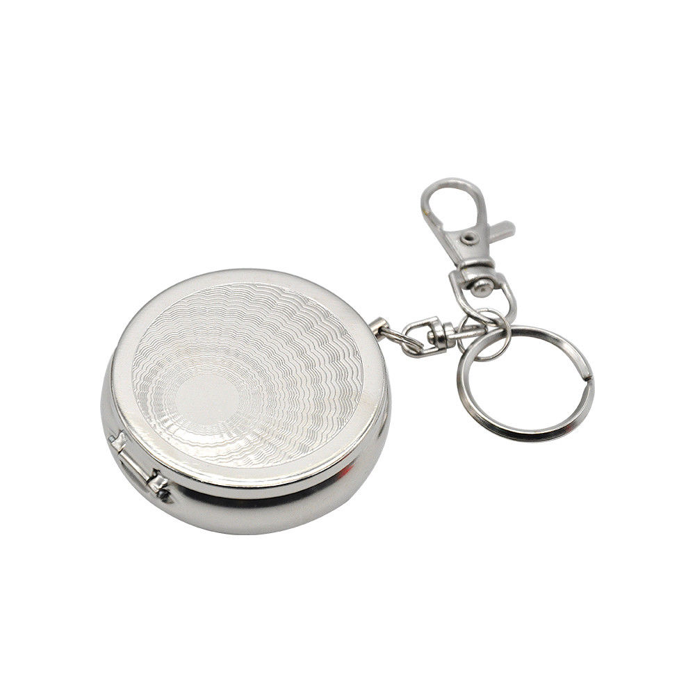 Mini Portable Pocket Purse Ashtray Keychain with Cigarette Holder with Keychain