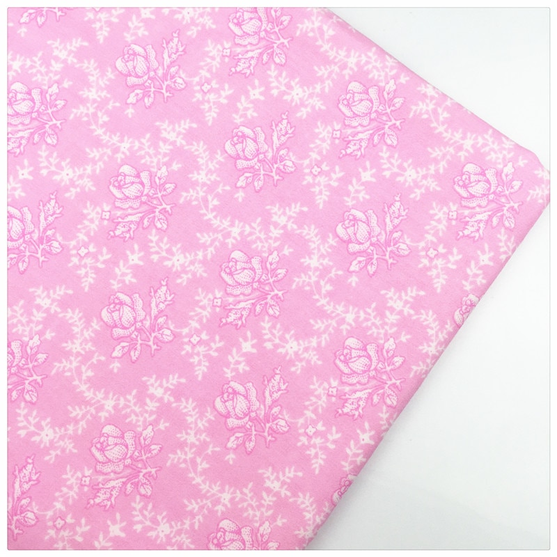 Syunss, Rosa posterior Rosa retro impreso tela de algodón bricolaje tela para patchwork Telas costura bebé juguete ropa de cama acolchado tela artesanal Tecido
