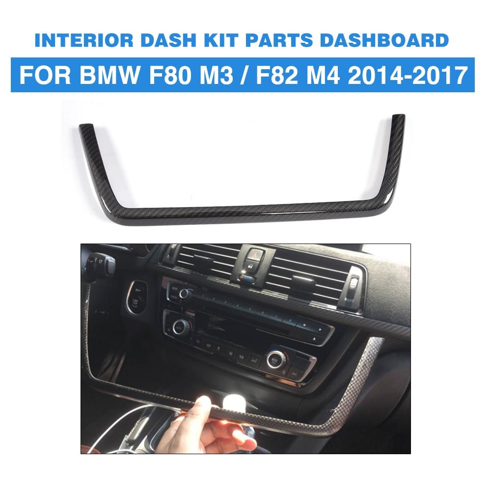 Carbon Fiber Interior Dashboard Sound Kit Parts Decorative for BMW F80 M3 Sedan F82 F83 M4 Coupe 2014 - 2018 Left Hand Driving