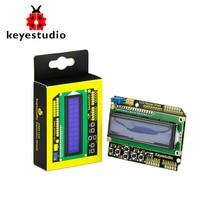 Keyestudio 1602lcd teclado escudo para arduino display lcd atmega2560 para raspberry pi uno tela azul blacklight módulo