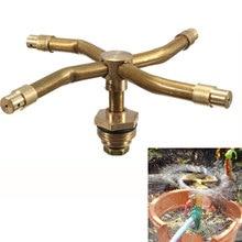 "4 Ways 1/2"" Brass Misting Garden Lawn Sprinkler Irrigation Fountain Nozzle 360 Degree Rotary Spray Head Garden Sprinkle"