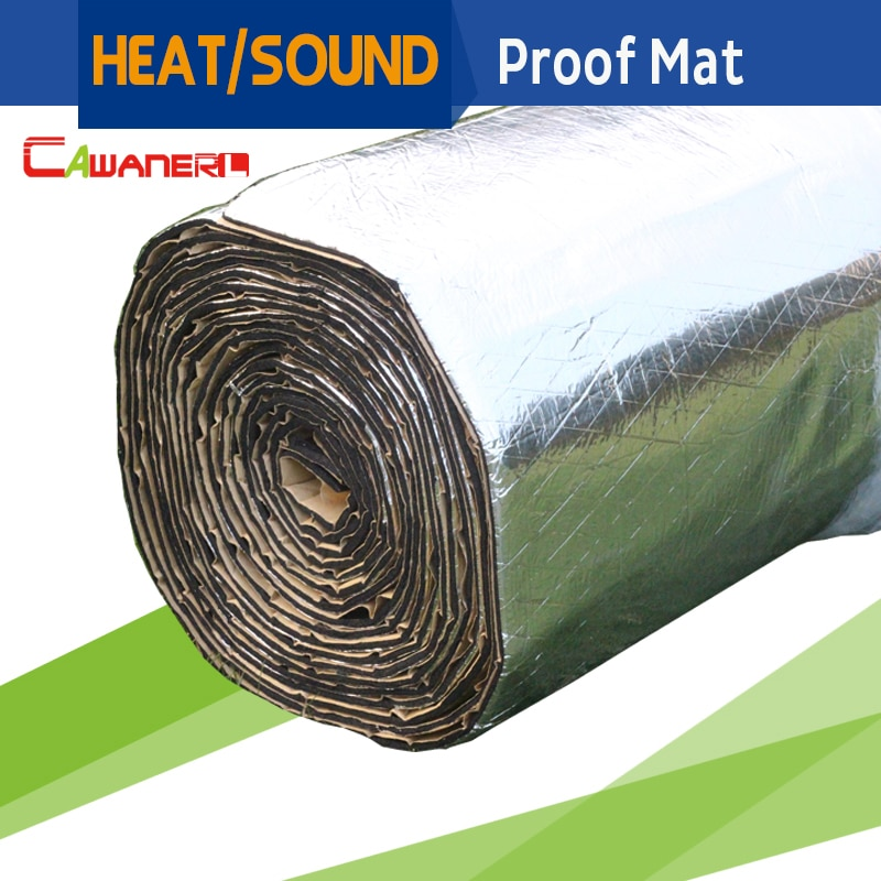 Cawanerl 1 Roll 6sqm 600CM X 100CM Car Heat Proof Material Sound Shield Noise Control Insulation Mat Deadener Deadening