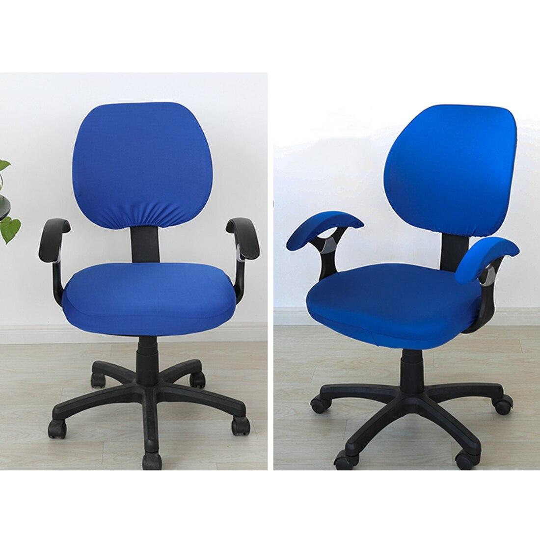 ¡Superventas! fundas de tela elástica de Spandex para sillas de ordenador, sillas de oficina, sillas de juegos, silla lavable fácil