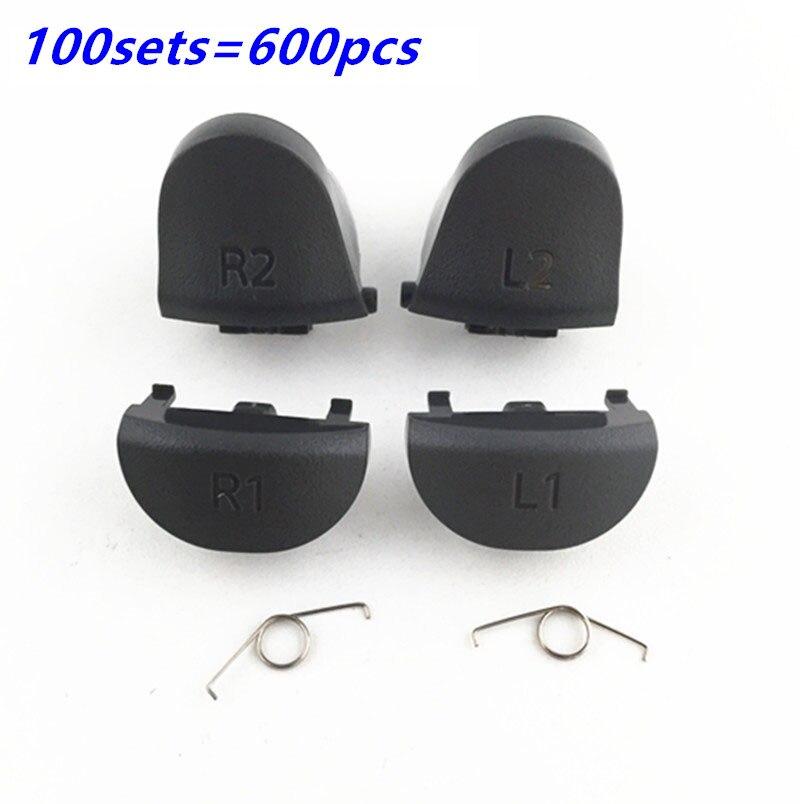 Para Playstations 4 JDS 040 JDM 040 controlador de resorte L1 R1 L2 R2 botones de piezas de reparación para PS4 Pro disparadores botón 100SET