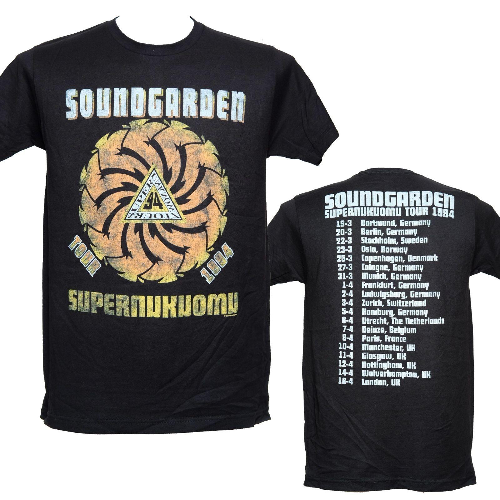 SOUNDGARDEN-SUPERUNKNOWN TOUR 1994-camiseta oficial más reciente 2018 moda Stranger Things camiseta hombres