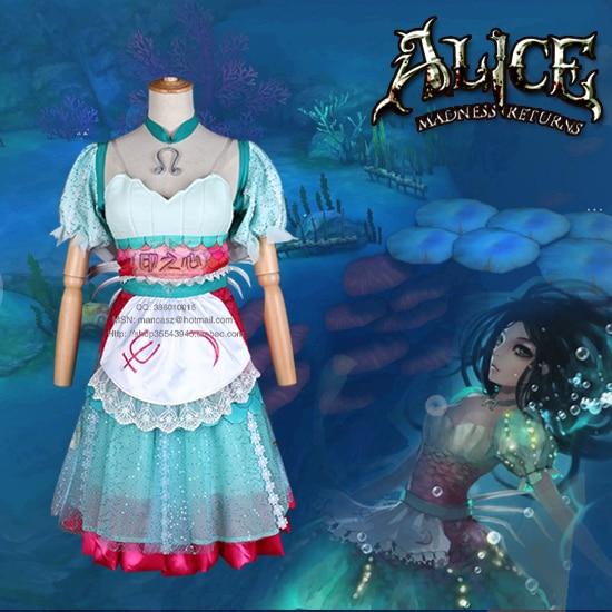 Alices Adventures in Wonderland The Art of Alice Madness Returns alice siren mermaid Cosplay Costume