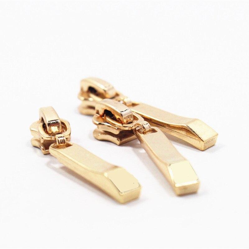 3 #20 stks Hoge kwaliteit goud metalen koperen rits hoofd, kleding accessoires, DIY Ritssledes Kledingstuk Accessoires, x10