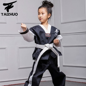 Taekwondo Dobok Clothes Child ITF Karate Suit Taekwondo Uniform Karate Clothes White TKD Clothing