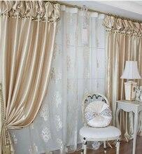 Rideau tête lanternes coréennes couleur champagne   Qualité supérieure, rideau de chambre à coucher, produit fini, rideau de perles décoratif/tulle