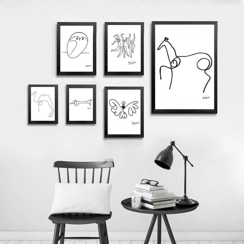 Cuadro de pared geométrico nórdico minimalista para decoración de sala de estar, pintura para el hogar, pósteres artísticos de invierno del país de las Maravillas, Salón abstracto