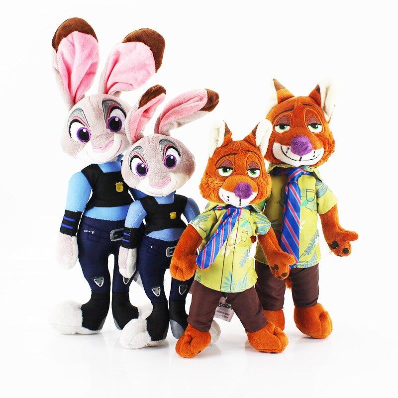 3 размера плюшевая игрушка зверополис лиса Ник Уайлд кролик Джуди хопс мультфильм Животные куклы игрушки Рождественский подарок для детей