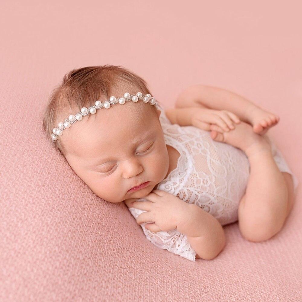 Cinta para el pelo para recién nacido con diamantes de imitación 2019, diademas Vintage de belleza hechas a mano, cuentas de perlas elásticas para niños, accesorios de boda