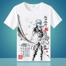 T-shirt haute Q unisexe Anime Cos GINTAMA Sakata Gintoki Kagura leader, Sadaharu, T Shirt