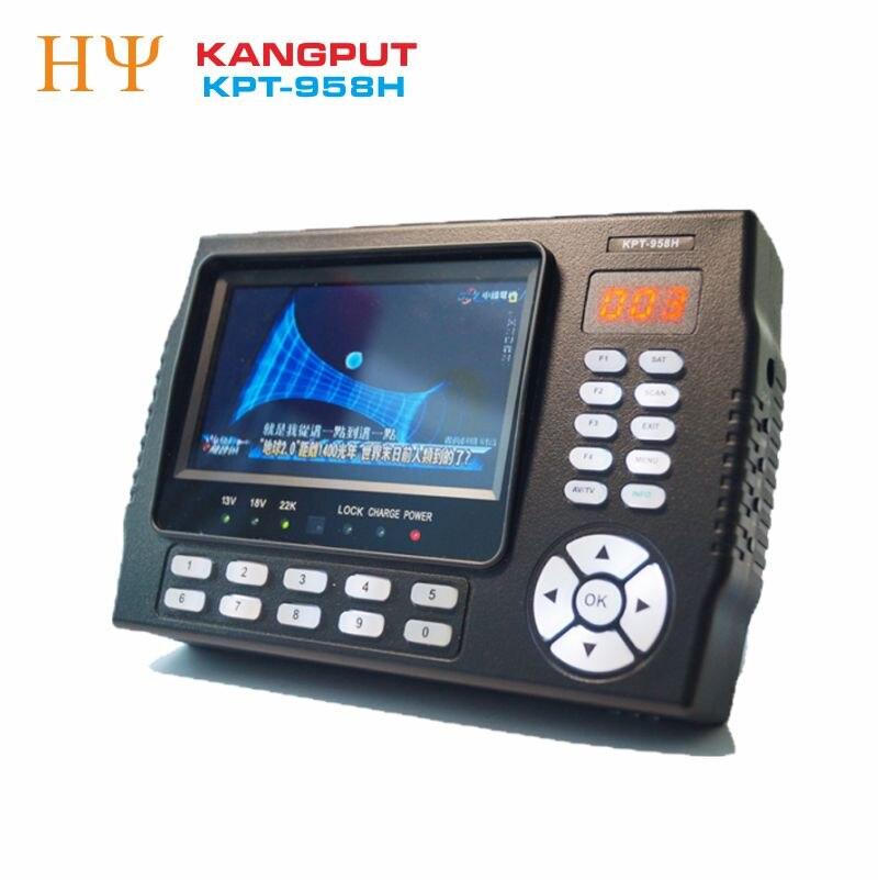 [De] KANGPUT KPT-958H DVB-S2 MPEG4 HD medidor del buscador de satélite digital USB2.0 salida HD Sat finder mejor satlink ws-6950