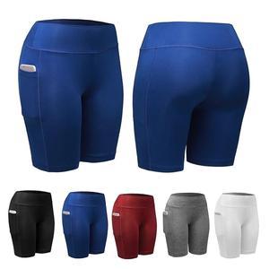 leggings women  Solid Color Pocket  Stretchy Fitness Cycling Leggings pants women leggins mujer  ropa de mujer лосины женские