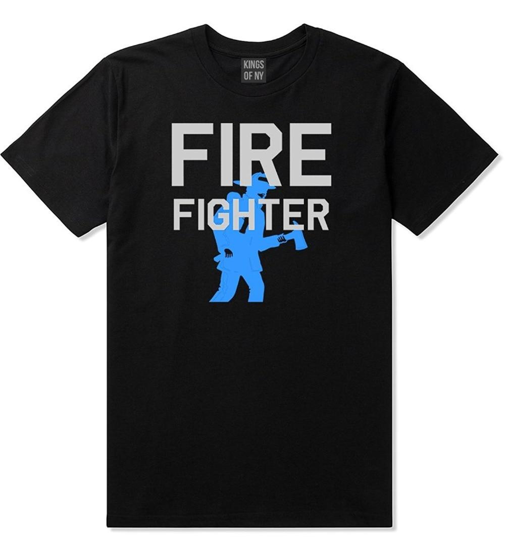 Gran oferta 2019 camiseta divertida para hombre con Logo de trabajo de rescate hacha bombero a la moda