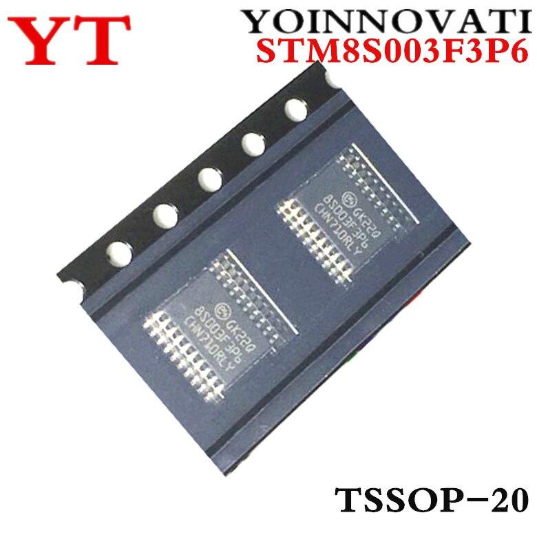 ¿Envío gratis 10 unids/lote STM8S003F3P6 STM8S003F 8S003F3P6 MCU 8BIT 8KB FLASH TSSOP20 IC?
