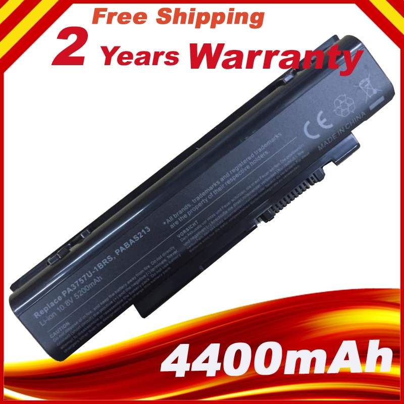 PA3757U-1BRS PABAS213 Laptop Replacement Battery For Toshiba Qosmio F60 F750 F755